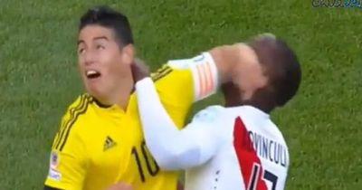James Rodriguez mit brutalem Ellenbogencheck!