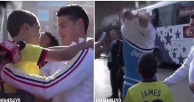 James Rodriguez rührt kleinen Jungen zu Tränen!