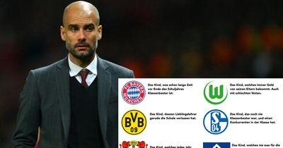 Die Bundesliga-Clubs als Schulkinder!
