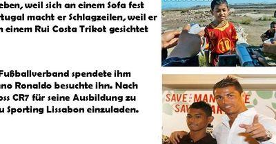 Vor 11 Jahren half Cristiano Ronaldo einem Tsunami-Waisenkind