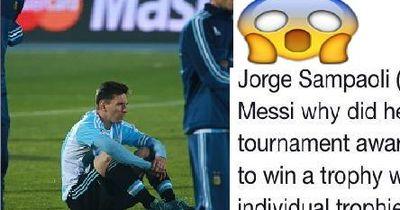 Chile Trainer Sampaoli fragte Lionel Messi, warum er den Preis zum Spieler des Turniers ablehnte!