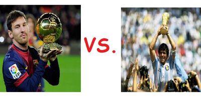 Lionel Messi vs. Maradona!