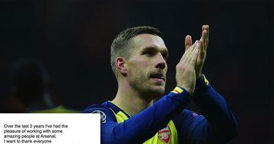 Lukas Podolski und sein emotionaler Abschiedsbrief an den Arsenal