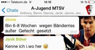 Die witzigsten WhatsApp-Gespräche der Kreisliga!