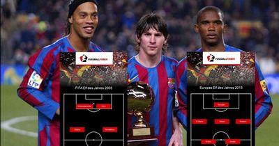 FIFA Elf des Jahres 2005 vs 2015
