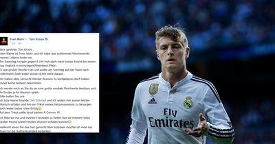 Trauernde bitten Nationalspieler um Abschiedsgeschenke.