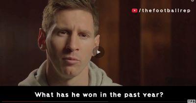 So reagiert Messi zum Ronaldo-Film! Achtung Satire!