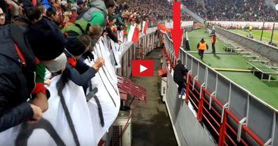 VIDEO | Geiler Flitzer flüchtet vor Security - und entkommt dank der Fans!