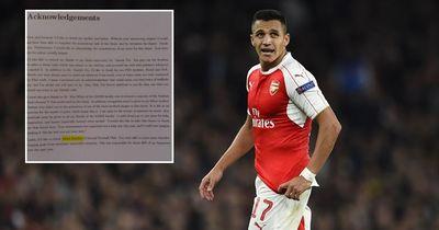 Fußballfan dankt Alexis Sanchez in seiner Abschlussarbeit