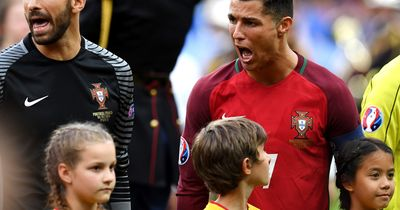 Deutsches Einlaufkind: So war Cristiano Ronaldo vor dem Endspiel drauf!