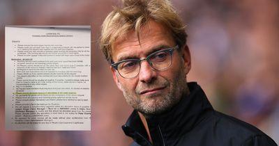 Reisen mit Jürgen Klopp: Hotel veröffentlicht Extra-Wünsche des Liverpool-Trainers