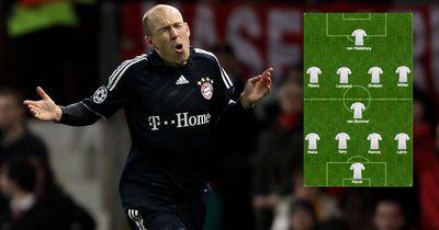 Das ist die unglaubliche Traumelf von Arjen Robben!