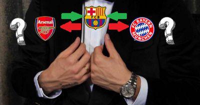 Barca beobachtete Spieler beim Duell zwischen Bayern und Arsenal
