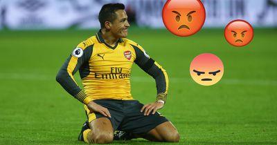 Alexis Sanchez verärgert die Arsenal-Fans