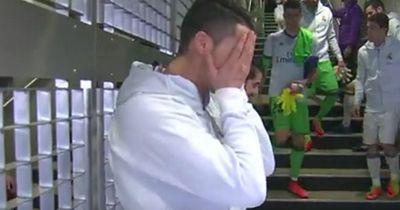 So blamierte sich Cristiano Ronaldo im Spielertunnel