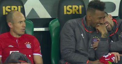 Bayern-Stars machen sich über Robben lustig