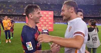 Das schreibt Messi über Totti