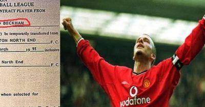 David Beckham: Sein erster Vertrag