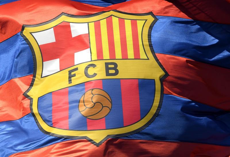 Flagge des FC Barcelona