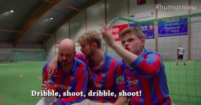 Lustiges Video-Experiment: Norweger spielen sturzbetrunken Fußball