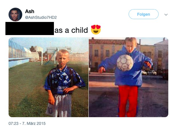 Dieses Bild zeigt Fußballer Luka Modric als Kind.