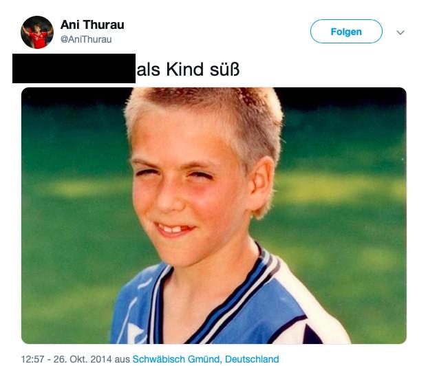 Dieses Bild zeigt Philipp Lahm als Kind.