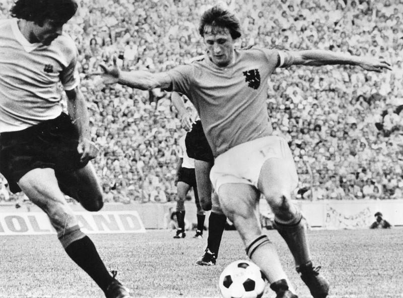 Dieses Bild zeigt Fußballlegende Johan Cruyff.