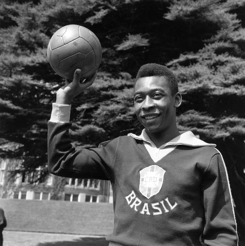 Dieses Bild zeigt Fußballlegende Pelé.
