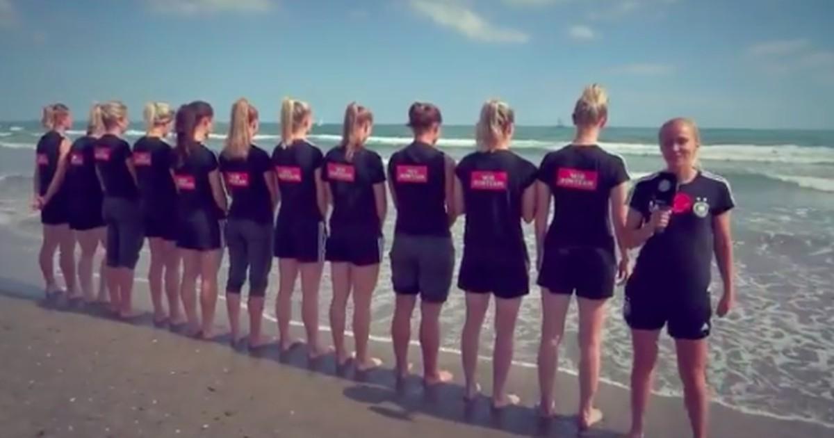 Lustige Videoantwort der DFB-Frauen an die U21-Jungs geht viral