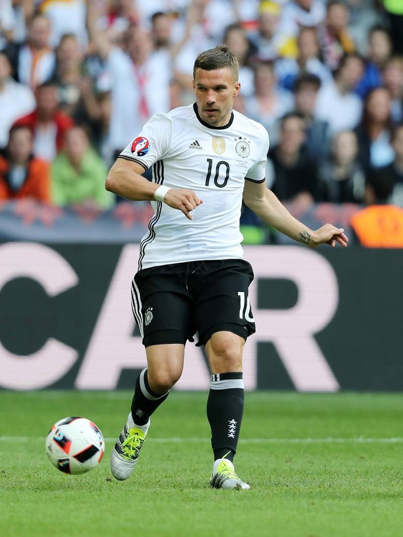 Lukas Podolski spielte für die deutsche Nationalmannschaft.