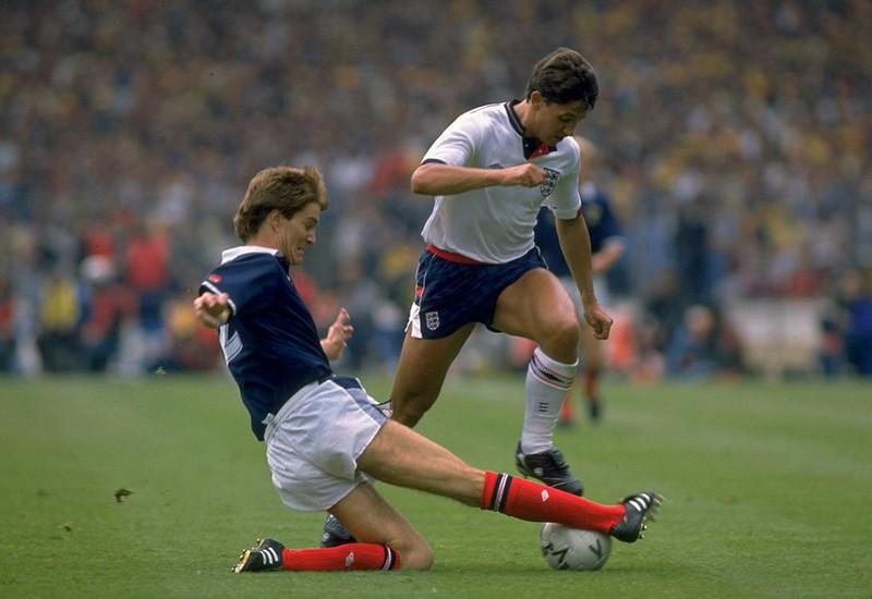 Gary Lineare beim Versuch, ein WM-Tor zu erzielen