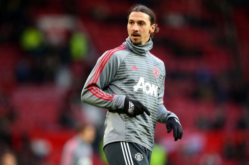 Fußball-Star Ibrahimović beim Training auf dem Platz