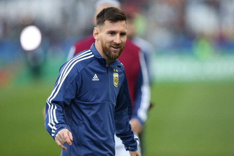 Der Star-Fußballer Lionel Messi beim Training