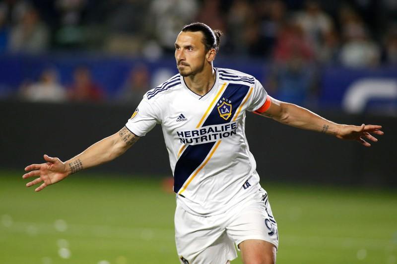 Star-Kicker Zlatan Ibrahimović bejubelt ein Tor