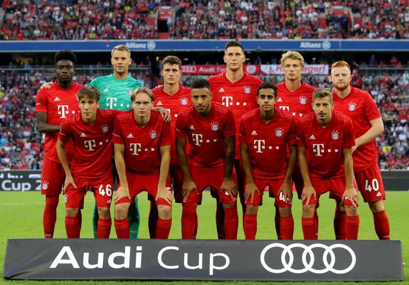 Die Bayern Elf beim Audi Cup