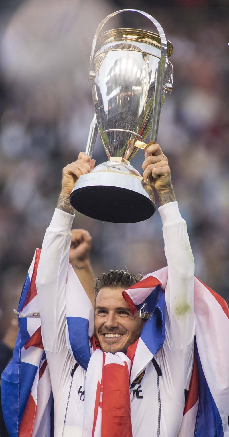 Fußball-Legende David Beckham früher.
