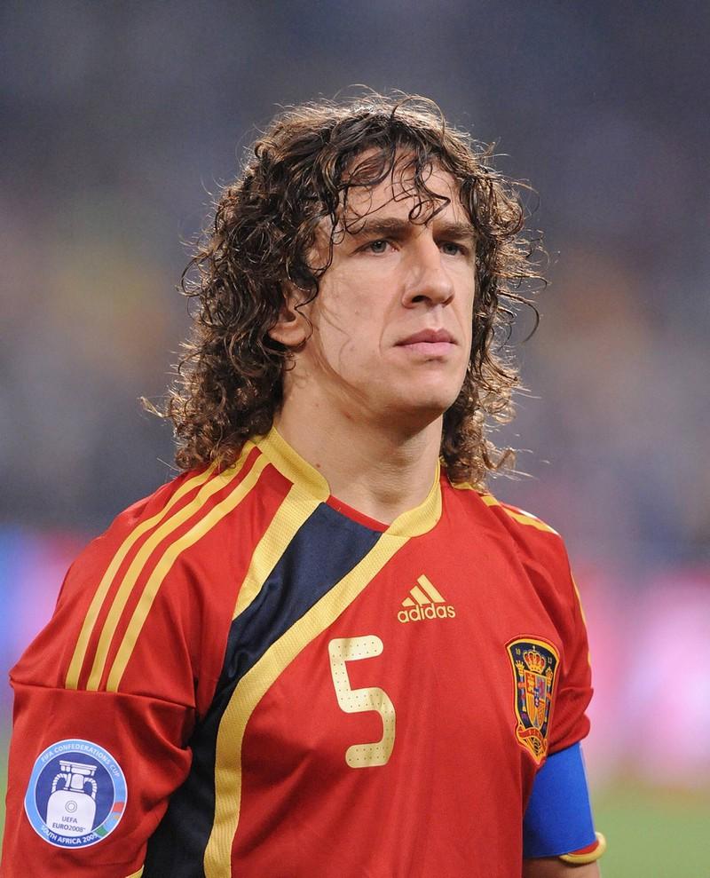Fußballer Carles Puyol damals.