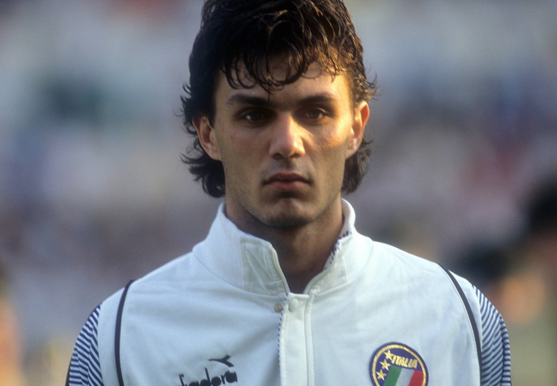 Fußballer Paolo Maldini damals.