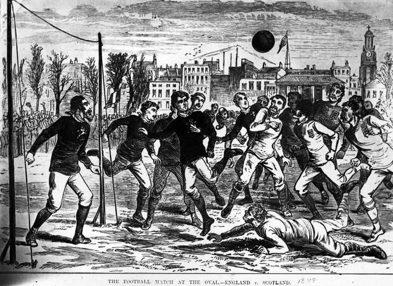 Historisches Bild eines Fußballspiels