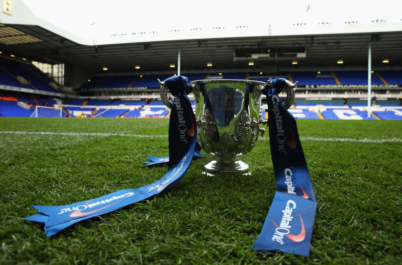Das Bild zeigt den League cup der Preamiere League, den man mit dem Sieg der Meisterschaft erhält