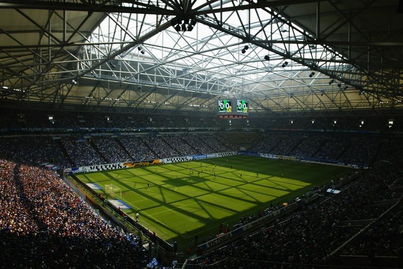 Man sieht ein Stadion der Bundesliga, was im Quiz bestimmt nochmal vorkommt
