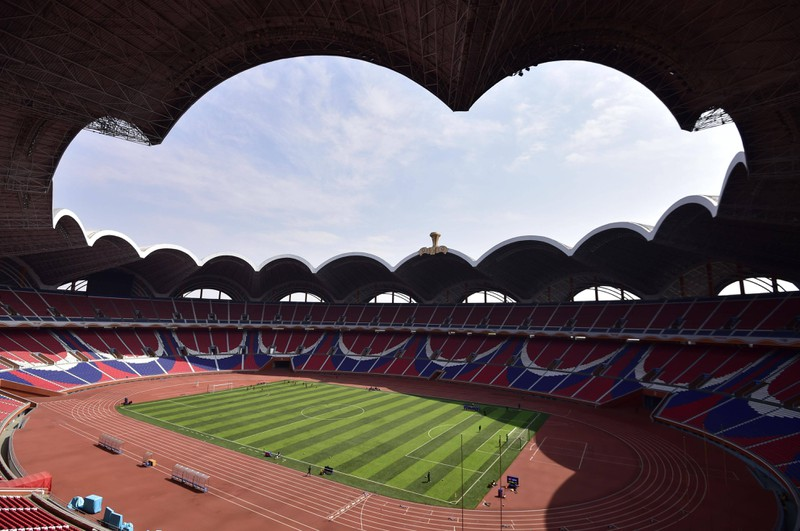 Das Stadion erster Mai in Pjöngjang in Nordkorea ist das größte Stadion der Welt
