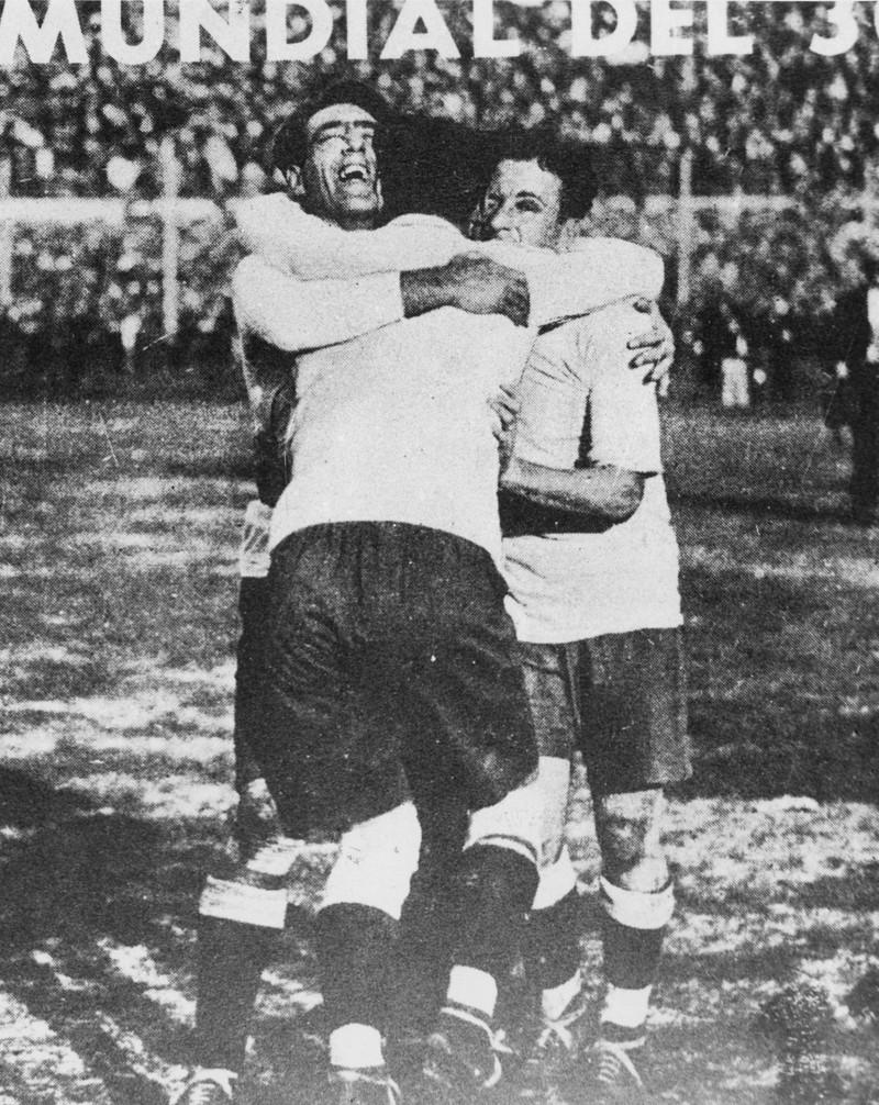 Man sieht die ersten Weltmeister der Geschichte 1930 Uruguay