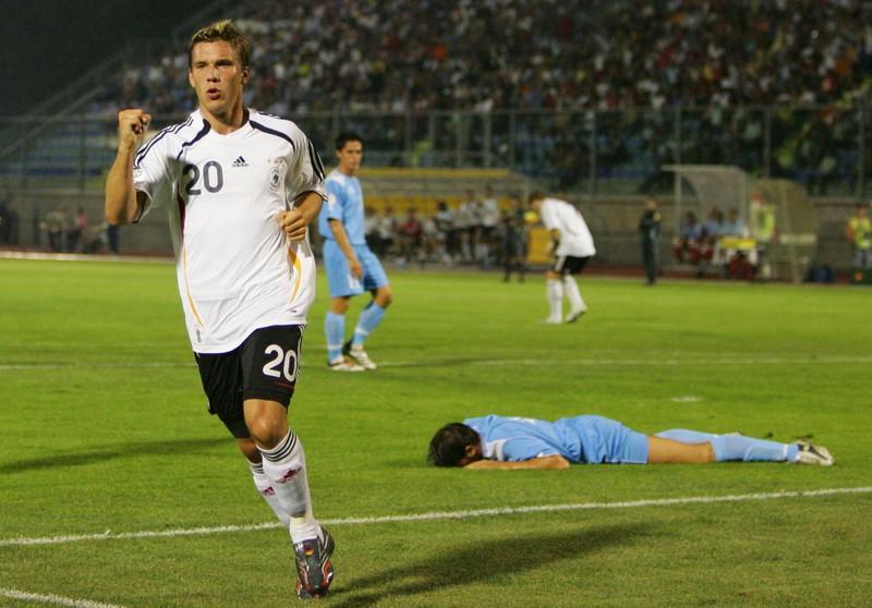 Das Spiel Deutschland gegen San Marino, in dem die Mannschaft 13 Tore schoss