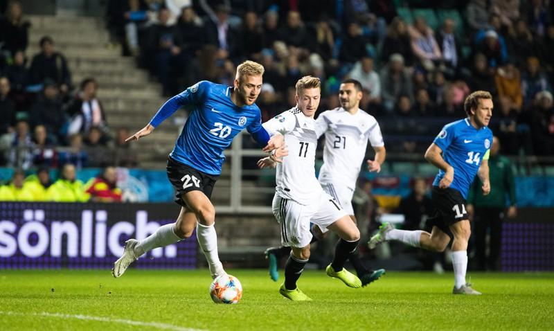 Das Spiel in der EM-Qualifikation gegen Estland, bei dem Deutschland 8 Tore schoss