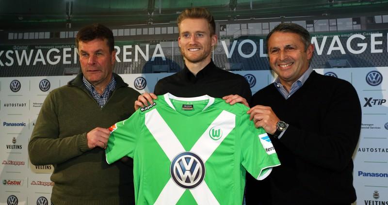 André Schürrle, der für 32 Millionen Euro in der Saison 2014/15 zum VfL Wolfsburg wechselte