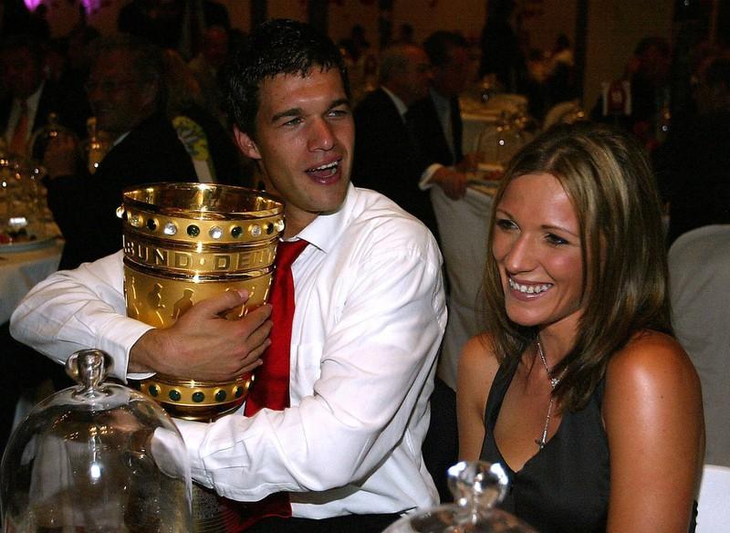 Der Fußballspieler und Simone Mecky-Ballack (damals Ballack).