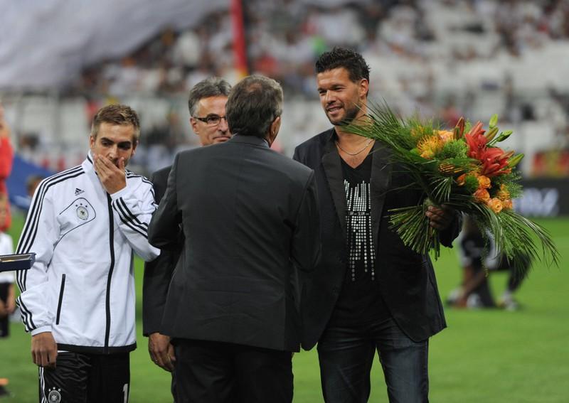 Im September 2013 wurde der Fußballspieler Michael Ballack vom DFB verabschiedet.