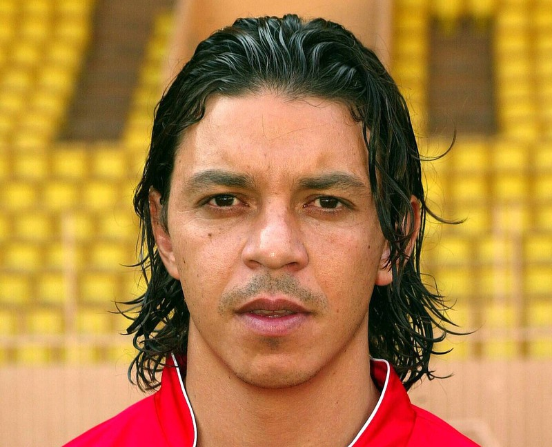 Der River Plate-Coach Marcello Gallardo hier noch als Spieler im Trikot es AS Monaco