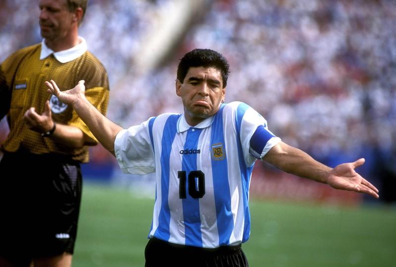Diego Maradona wurde bei der WM 1994 in den USA nach überraschend guten Leistungen des Dopings überführt